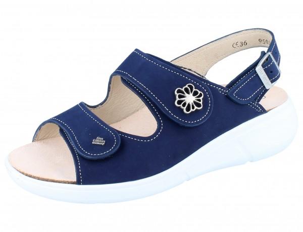 FINN COMFORT Faial Damen Sandale blau atoll/Nubuk