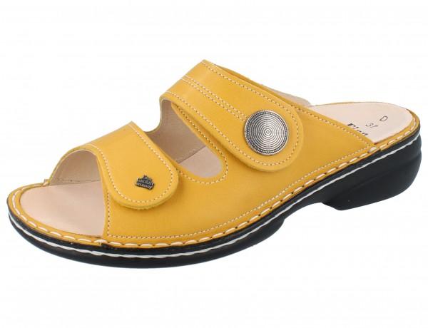 FINN COMFORT Sansibar Damen Pantolette gelb yellow/Pala