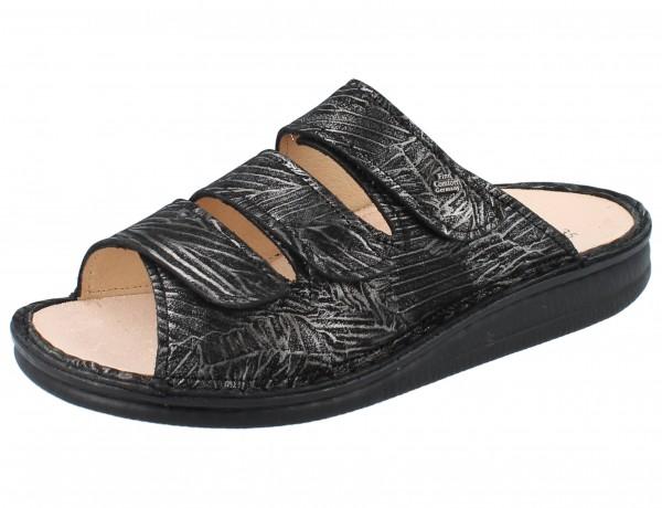 FINN COMFORT Korfu Damen Pantolette grau/silber silver/Crumble