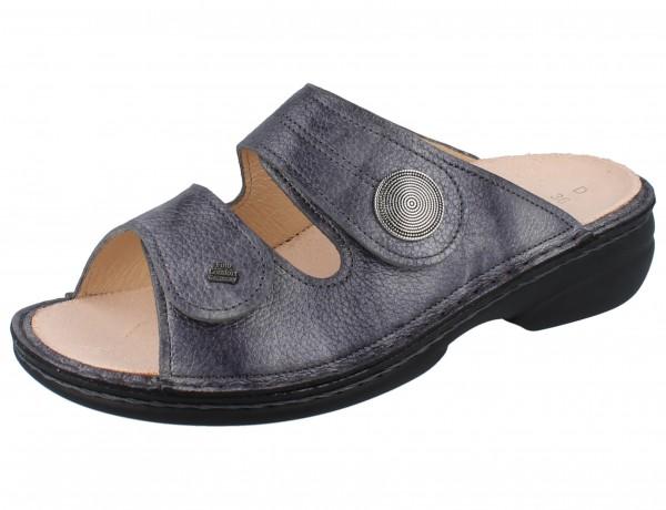 FINN COMFORT Sansibar Damen Pantolette grau grey/Alfa