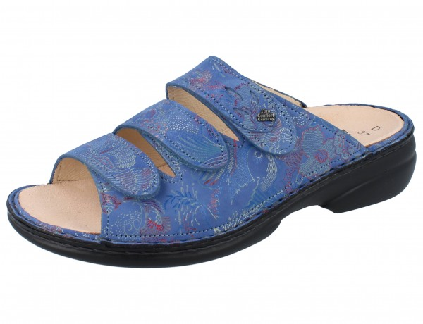 FINN COMFORT Kos Damen Pantoletten blau pacific/Shibu