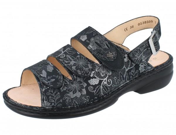 FINN COMFORT Saloniki Damen Sandale grau anthracite Jardin/Nubuk