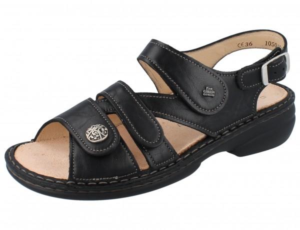 FINN COMFORT Gomera Damen Sandale schwarz/PlisseeLight