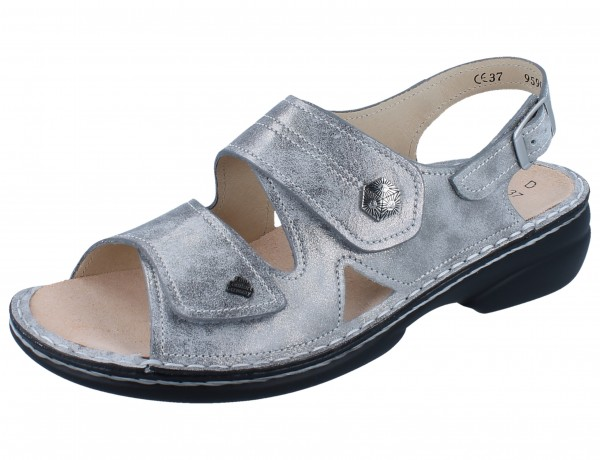 FINN COMFORT Milos Damen Sandale silber silver/Marley