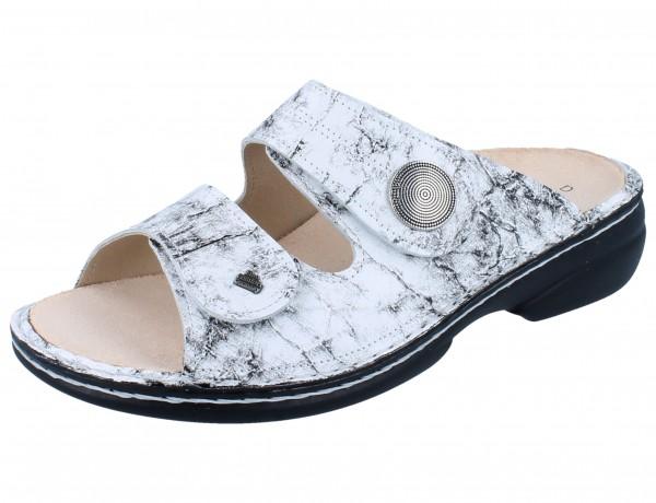 FINN COMFORT Sansibar Damen Pantolette weiß bianco/Marble