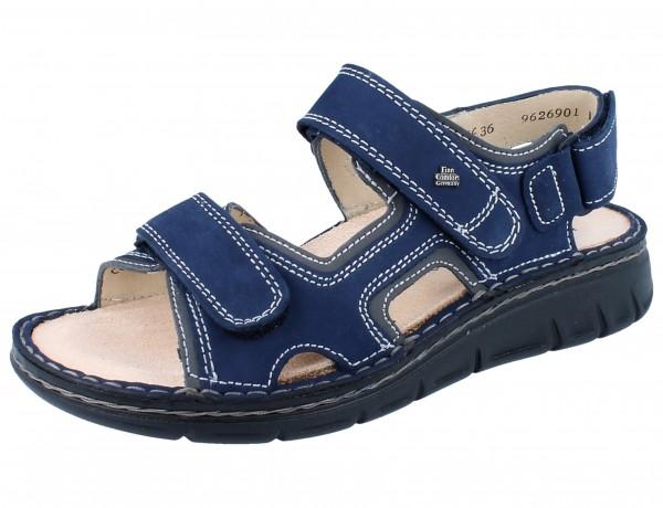 FINN COMFORT Wanaka Soft Damen Sandale blau atoll/street Nubuk/Patagonia