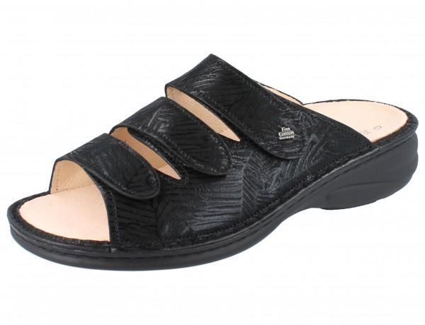 FINN COMFORT Pisa Damen Pantolette schwarz nero/Crumble