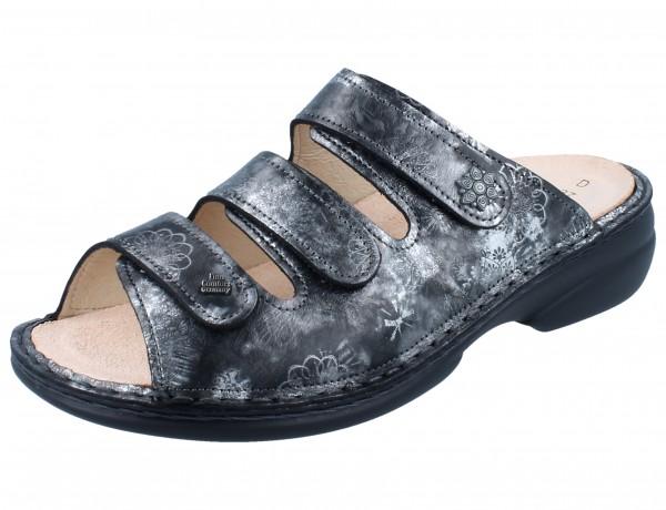 FINN COMFORT Menorca Soft Damen Pantolette grau grey/Reflex