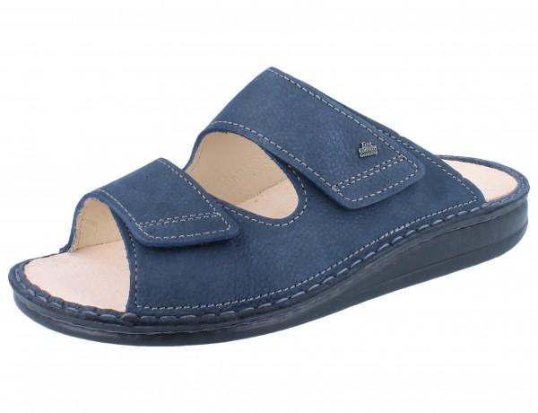 FINN COMFORT Riad Damen Herren Pantolette blau marine/Mustang