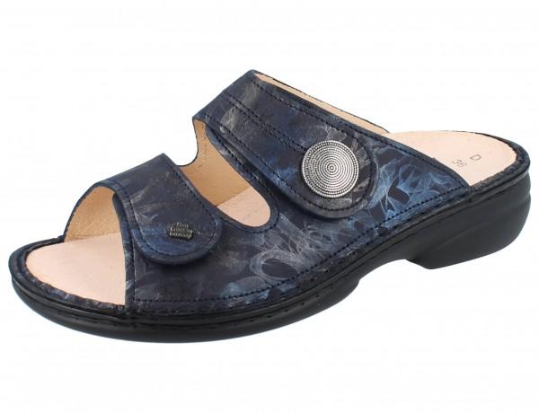 FINN COMFORT Sansibar Damen Pantolette blau atlantic/Rifrello