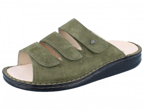 FINN COMFORT Korfu Damen Herren Pantolette grün olive/Piuma