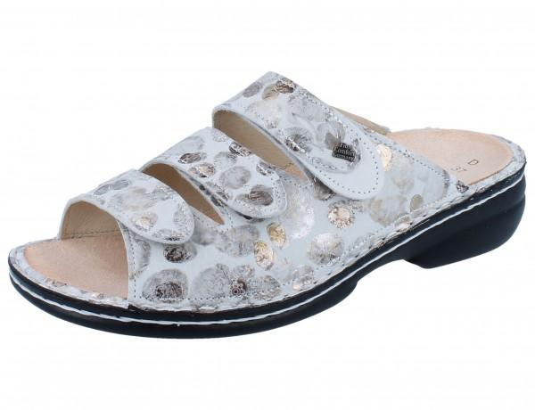 FINN COMFORT Kos Damen Pantoletten grau stone/bianco Pebble/Nubuk