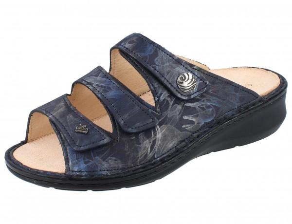 FINN COMFORT Carcina Damen Pantolette blau atlantic/Rifrello