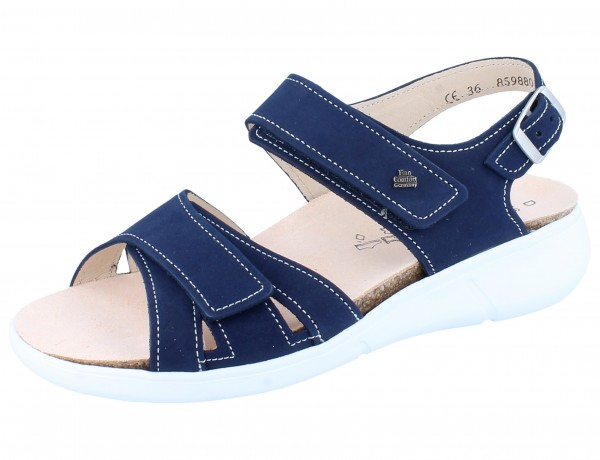 FINN COMFORT Nadi Damen Sandale blau atoll/Nubuk