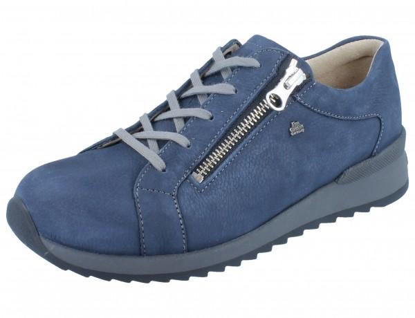 FINN COMFORT Barretos Damen Halbschuhe Schnürschuhe blau marine/Mustang