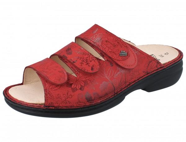 FINN COMFORT Kos Damen Pantoletten rot red Jardin/Kennedy