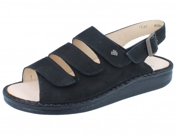 FINN COMFORT Sylt Damen Sandale schwarz/Nubuk