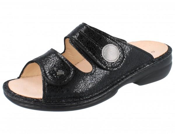 FINN COMFORT Sansibar Damen Pantolette schwarz black/Crash