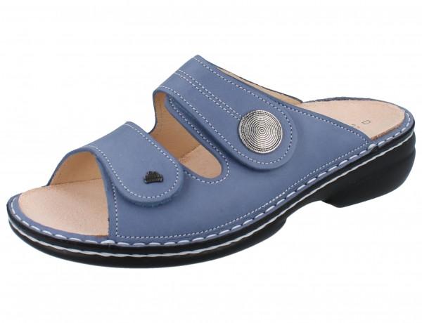 FINN COMFORT Sansibar Damen Pantolette blau jeans/Fenell