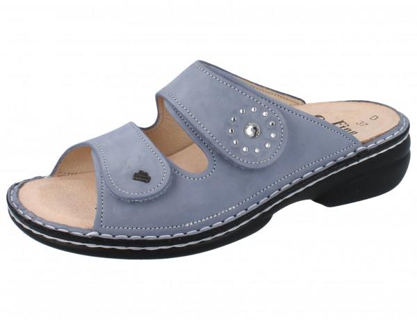 FINN COMFORT Beverly Soft Damen Pantolette blau lightblue/Nubuk
