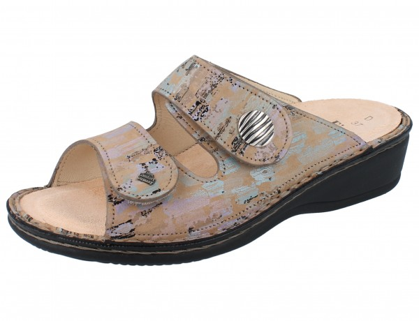 FINN COMFORT Panay Soft Damen Pantoletten beige mehrfarbig dune/Tayfun