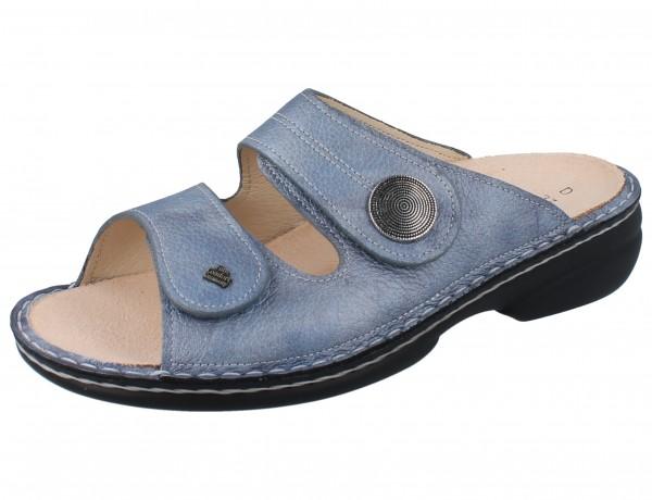 FINN COMFORT Sansibar Damen Pantolette blau jeans/Alfa