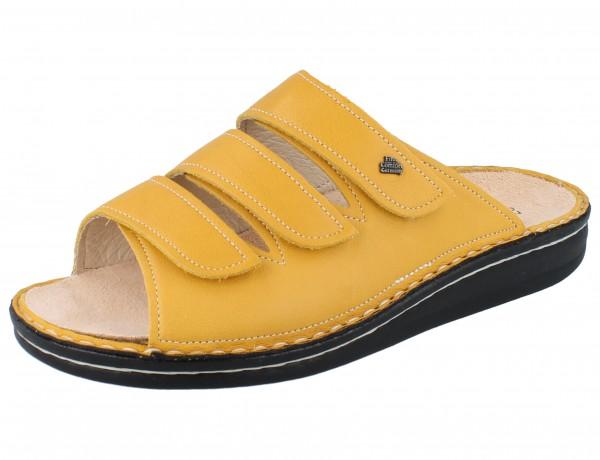 FINN COMFORT Korfu Damen Pantolette gelb yellow/Pala