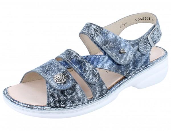 FINN COMFORT Gomera Damen Sandale blau jeans/Hippie
