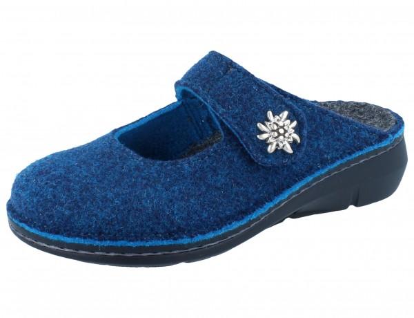 FINN COMFORT Silvretta Damen Clogs blau darkblue/DoubleFilz