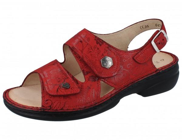 FINN COMFORT Milos Damen Sandale rot red/Jardin