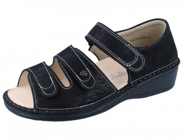 FINN COMFORT Usedom Damen Sandale schwarz/Waving