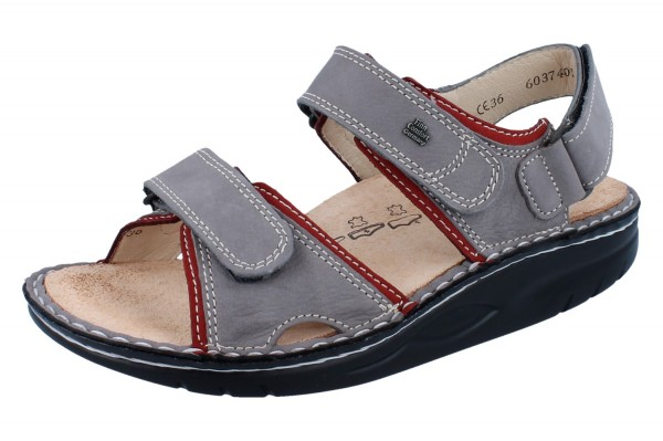 FINN COMFORT FINNAMIC YUMA Damen Sandale grau grey/sandia BearReno/Nubuk
