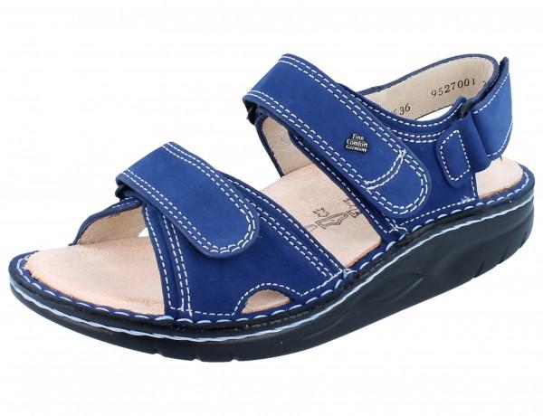 FINN COMFORT FINNAMIC Yuma Damen Herren Sandale blau kobalt/Nubuk