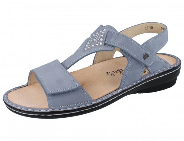 FINN COMFORT Calvia Damen Sandale blau lightblue/Nubuk