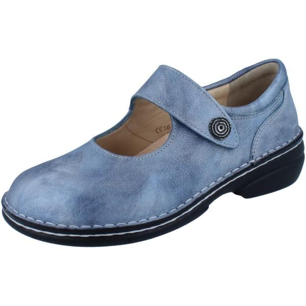 FINN COMFORT Laval Damen Halbschuhe Slipper Ballerina blau jeans/Alfa