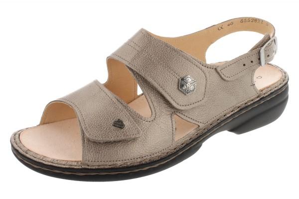 FINN COMFORT Milos Damen Sandale beige fango/Pony