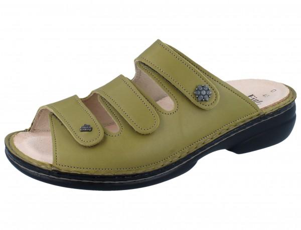 FINN COMFORT Menorca Soft Damen Pantolette grün verde/Savanna
