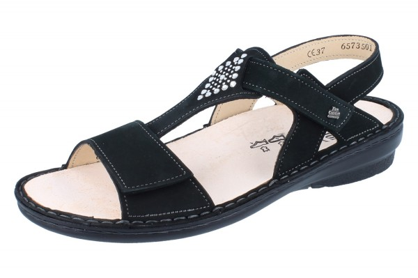 FINN COMFORT Calvia Damen Sandale schwarz/Nubuk