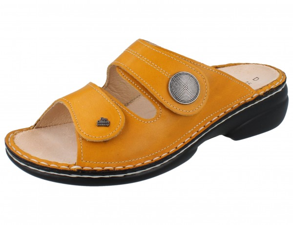 FINN COMFORT Sansibar Damen Pantolette gelb sole/Savanna