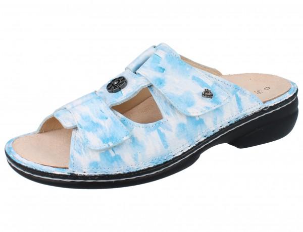 FINN COMFORT Pattaya Damen Pantolette blau sky/Fiore