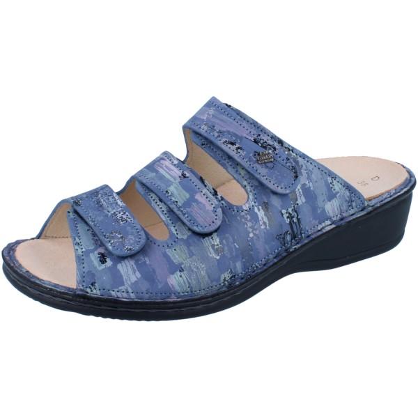 FINN COMFORT Pisa Damen Pantolette blau seablue/Tayfun