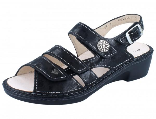 FINN COMFORT Aversa Damen Sandale schwarz nero/Chenile