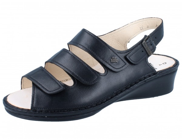 FINN COMFORT Samoa Damen Sandale schwarz/NappaSeda