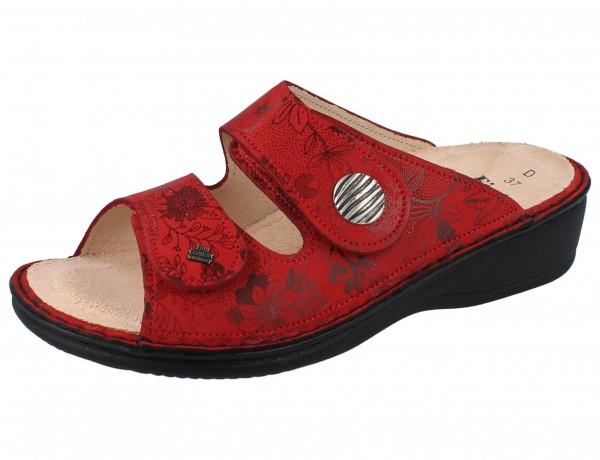 FINN COMFORT Panay Soft Damen Pantoletten rot red/Jardin