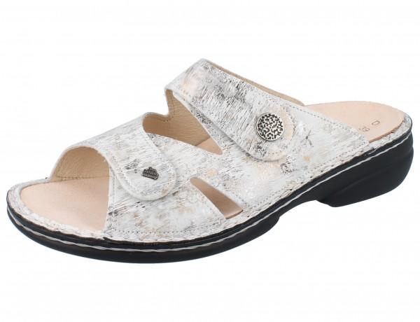 FINN COMFORT Torbole Damen Pantolette grau mehrfarbig stone/Berna