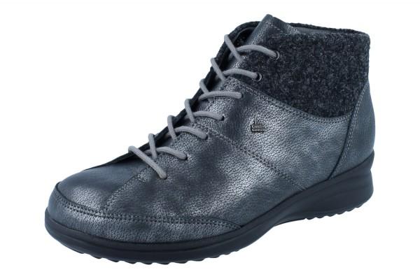 FINN COMFORT Galtür Damen Stiefel Schnürstiefelette grau nerosilber/anthr Leder