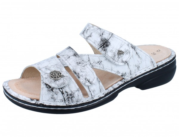FINN COMFORT Ventura Soft Damen Pantoletten weiß bianco/Marble