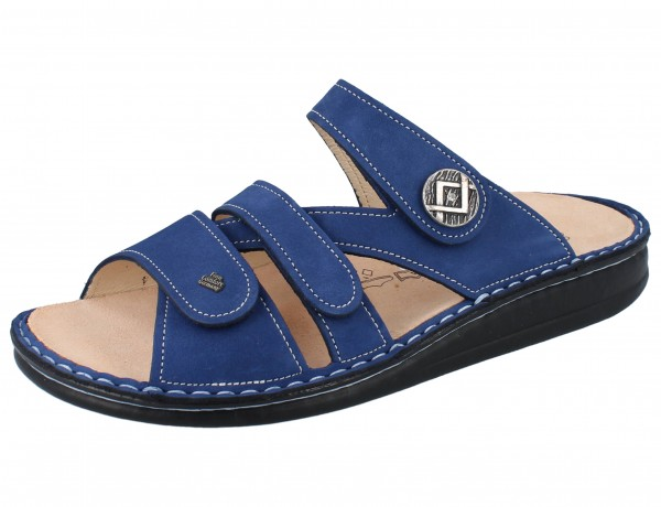 FINN COMFORT Agueda Damen Pantoletten blau kobalt/Nubuk