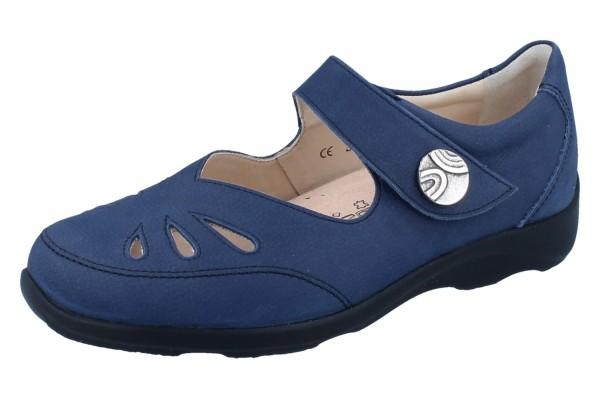 FINN COMFORT Brac-Soft Damen Halbschuhe Ballerina blau lake/Nubukvienna