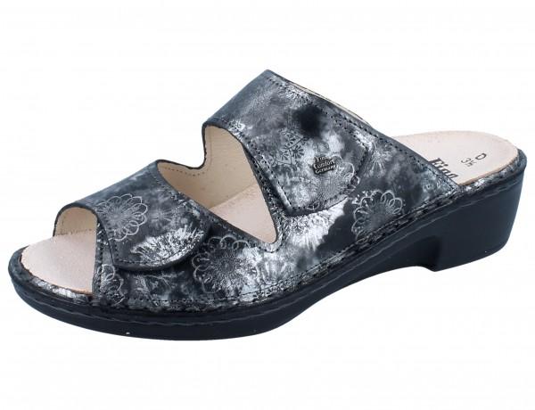 FINN COMFORT Gela Damen Pantolette grau/silber grey/Reflex